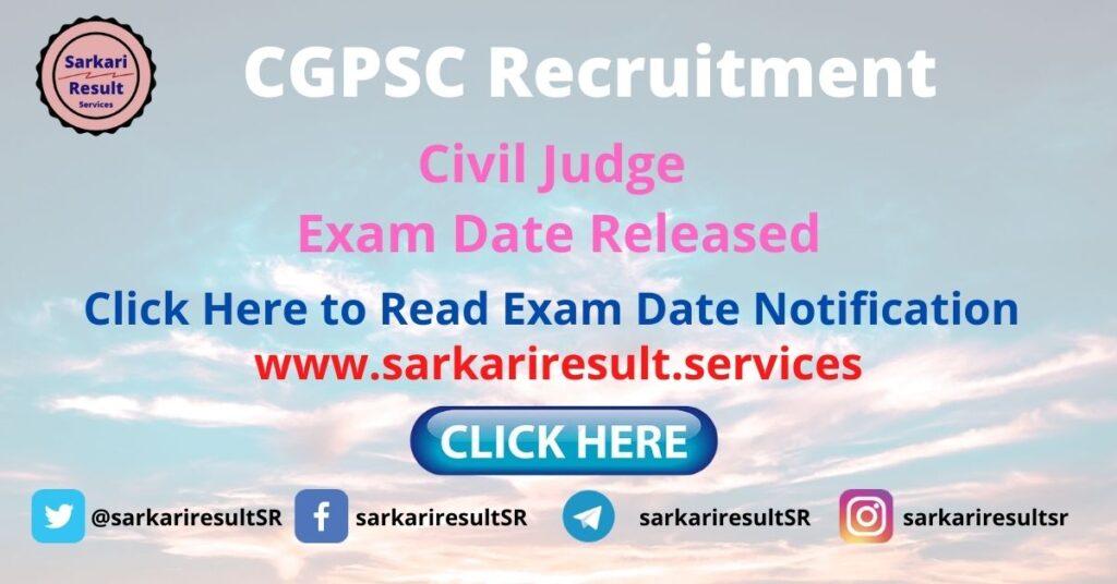 cgpsc civil judge Exam Date admit card